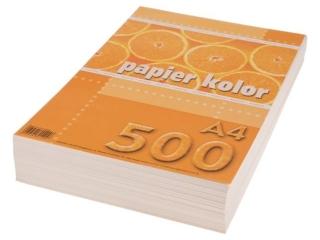 Papier ksero kolorowy A4 500k. KRESKA waniliowy