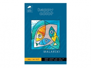 Blok malarski HAPPY COLOR M³ody Artysta, A4 10k. 200g