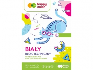 Blok techniczny A4 10k. HAPPY COLOR Happy Friends 170g