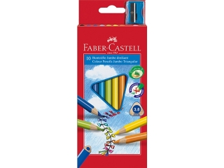 Kredki FABER-CASTELL Jumbo trójk±tne 10 kolorów + temperówka