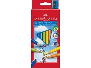Kredki FABER-CASTELL Jumbo trójk±tne 20 kolorów + temperówka