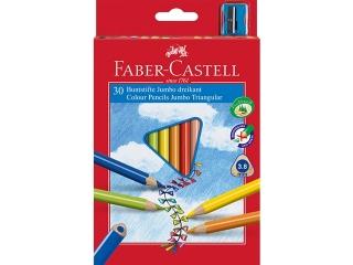 Kredki FABER-CASTELL Jumbo trójk±tne 30 kolorów + temperówka