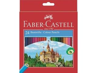 Kredki 24 kolorów FABER-CASTELL Zamek +temperówka