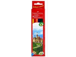 Kredki  6 kolorów FABER-CASTELL Zamek