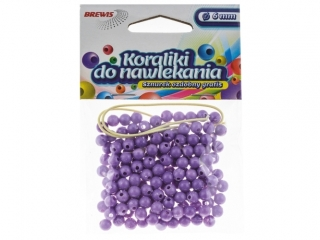 Koraliki do nawlekania BREWIS 6mm K6-6 fiolet.