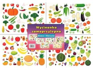 Wycinanka samoprzylepna CORMORAN A4 6k. Owoce i warzywa