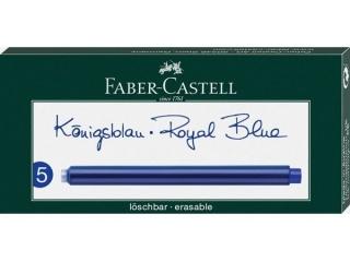 Naboje atramentowe FABER-CASTELL d³ugie, niebieskie 5szt. ka