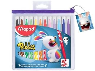 Flamastry MAPED Rabbids 12 kolorów