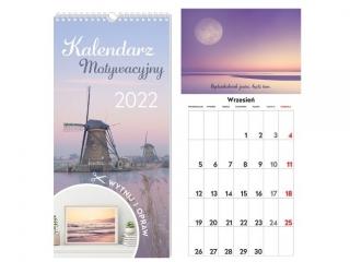 Kalendarz ¶cienny INTERDRUK Motywacyjny 22x46 Widoki