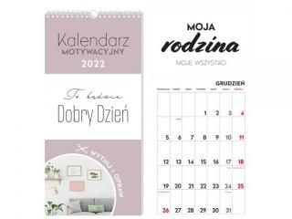 Kalendarz ¶cienny INTERDRUK Motywacyjny 22x46 Has³a