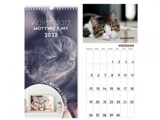Kalendarz ¶cienny INTERDRUK Motywacyjny 22x46 Zwierzaki