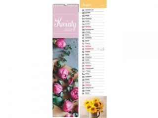 Kalendarz ¶cienny paskowy INTERDRUK 13,5x60 Kwiaty