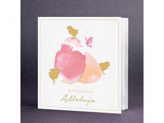 Kartki karnet KW Wielkanoc akwarele  EE0705