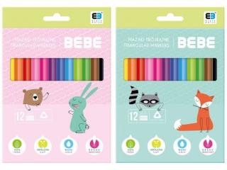 Mazaki trójk±tne INTERDRUK BxB Kids pastel 12 kolorów