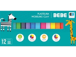 Plastelina INTERDRUK BxB Kids 12 kolorów