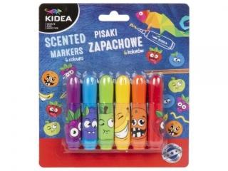Pisaki zapachowe KIDEA 6 kolorów