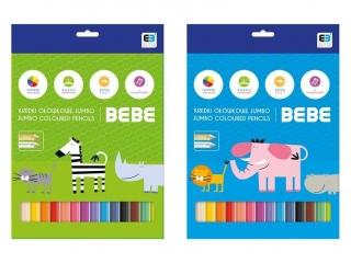 Kredki trójk±tne INTERDRUK Jumbo BxB Kids 12 kolorów
