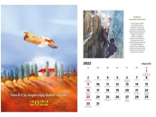 Kalendarz ¶cienny DIEC A4 niech Ciê wspieraj± dobre anio³y 2022