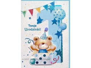 Kartki karnet HM 200-1407 Urodziny