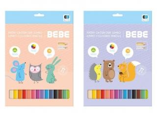 Kredki trójk±tne INTERDRUK Jumbo BxB Kids pastel 12 kolorów