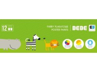 Farby plakatowe INTERDRUK BxB Kids 12 kolorów