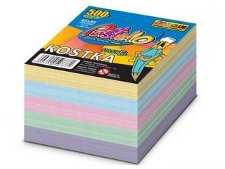 Kostka klejona kolor PASTELOWA 500 kartek