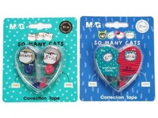 Korektor w ta¶mie M&G So Many Cats 2szt. 5m x 5mm
