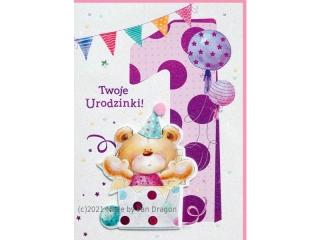 Kartki karnet HM 200-1404 Urodziny