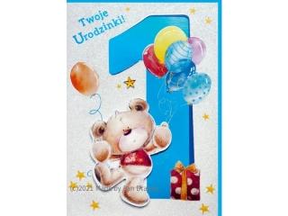 Kartki karnet HM 200-1405 Urodziny