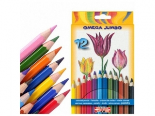 Kredki KOH-I-NOOR Omega Jumbo 12 kolorów