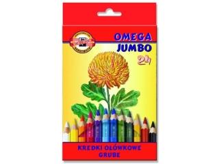 Kredki KOH-I-NOOR Omega Jumbo 12 kolorów HURT