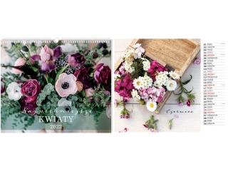 Kalendarz ¶cienny planszowy INTERDRUK 33, 5x40 Kwiaty
