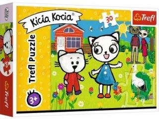 Puzzle   30 TREFL  Przygody Kici Koci