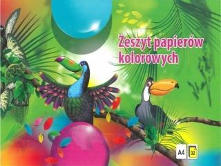 Zeszyt papierów kolorowych A4 32k. KRESKA