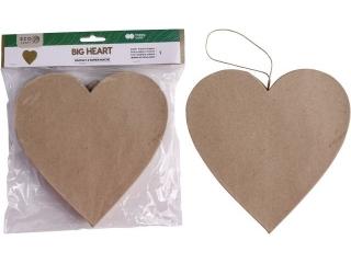 Kszta³t z papier mache HAPPY COLOR Big heart, 19x2.5cm