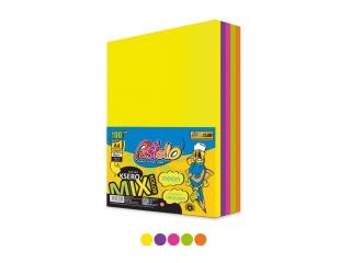 Papier ksero kolorowy A4 500k. PASTELLO 75g mix 5 kolorów Ne