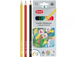 Kredki o³ówkowe TOMA trójk±tne 12 kolorów HURT