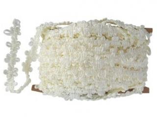 Koronka PAULA 10y 15mm kremowe kwiatki