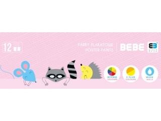 Farby plakatowe INTERDRUK BxB Kids pastel 12 kolorów