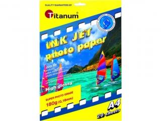 Papier foto TITANUM b³yszcz±cy, wodoodporny a4 10g 20k