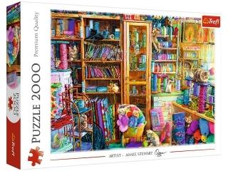 Puzzle 2000 TREFL Koci raj