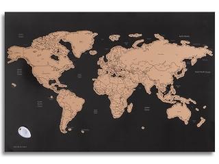 Kreatywna mapa ¶wiata - wydrapywanka DPCRAFT 60x40cm