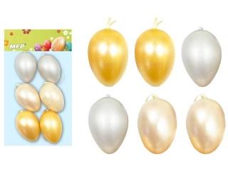 Ozdoba jajka plastik 6cm 6 szt. mix S180167
