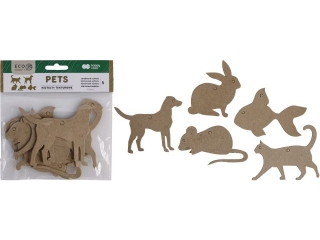 Zestaw kszta³tów tekturowych HAPPY COLOR Pets 5szt. 12x6cm