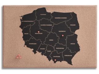 Kreatywna korkowa mapa Polski DPCRAFT 60x40cm