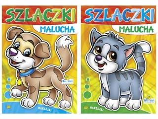Kolorowanka KRZESIEK A5 16k. Szlaczki malucha - Kotek