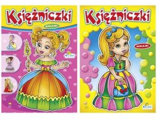 Kolorowanka KRZESIEK A4 16k. Ksiê¿niczki - Blondynka w kapel