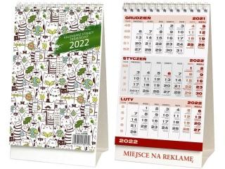 Kalendarz biurkowy WOKÓ£ NAS stoj±cy trójdzielny 2022