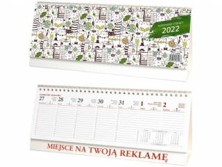 Kalendarz biurkowy WOKÓ£ NAS stoj±cy poziomy 2022