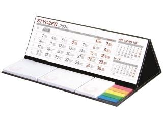 Kalendarz biurkowy WOKÓ£ NAS z notesem MAXI 2022 - czarny